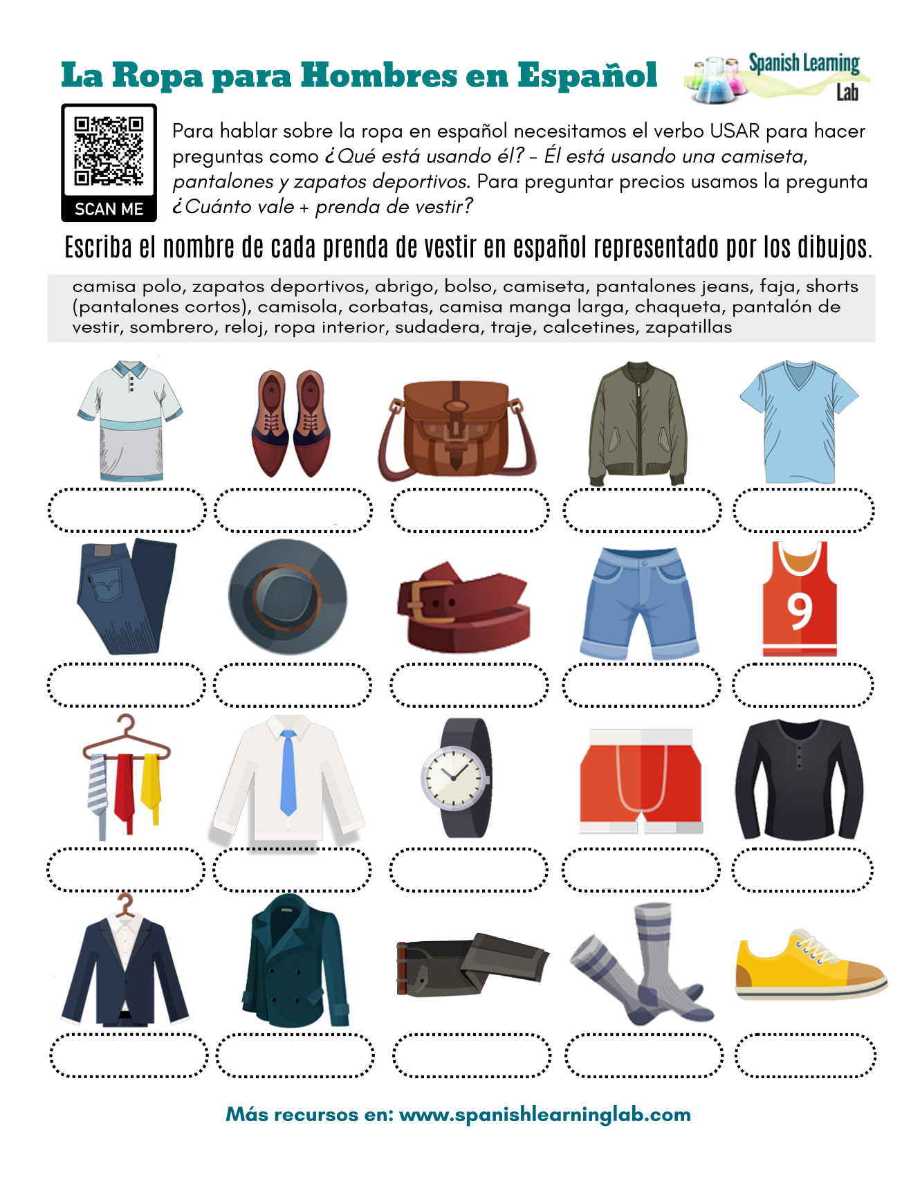 Men S Clothes In Spanish