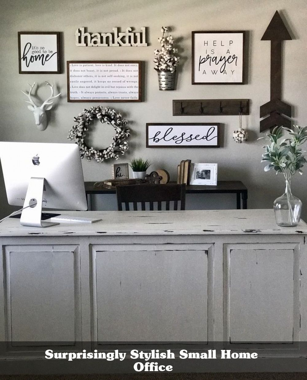 30 Cool Farmhouse Decorating Ideas For Your Home Office In 2021 Farmhouse Office Decor Farm House Living Room Room Wall Decor