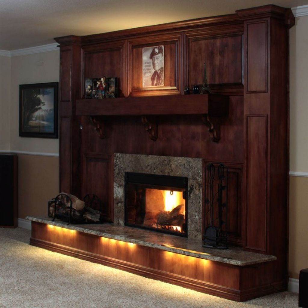 fireplace mantel lighting. Fireplace With LED Strip Lighting Good Ideas Check More At Http://www.wearefound.com/good-fireplace-lighting-ideas/ Mantel C