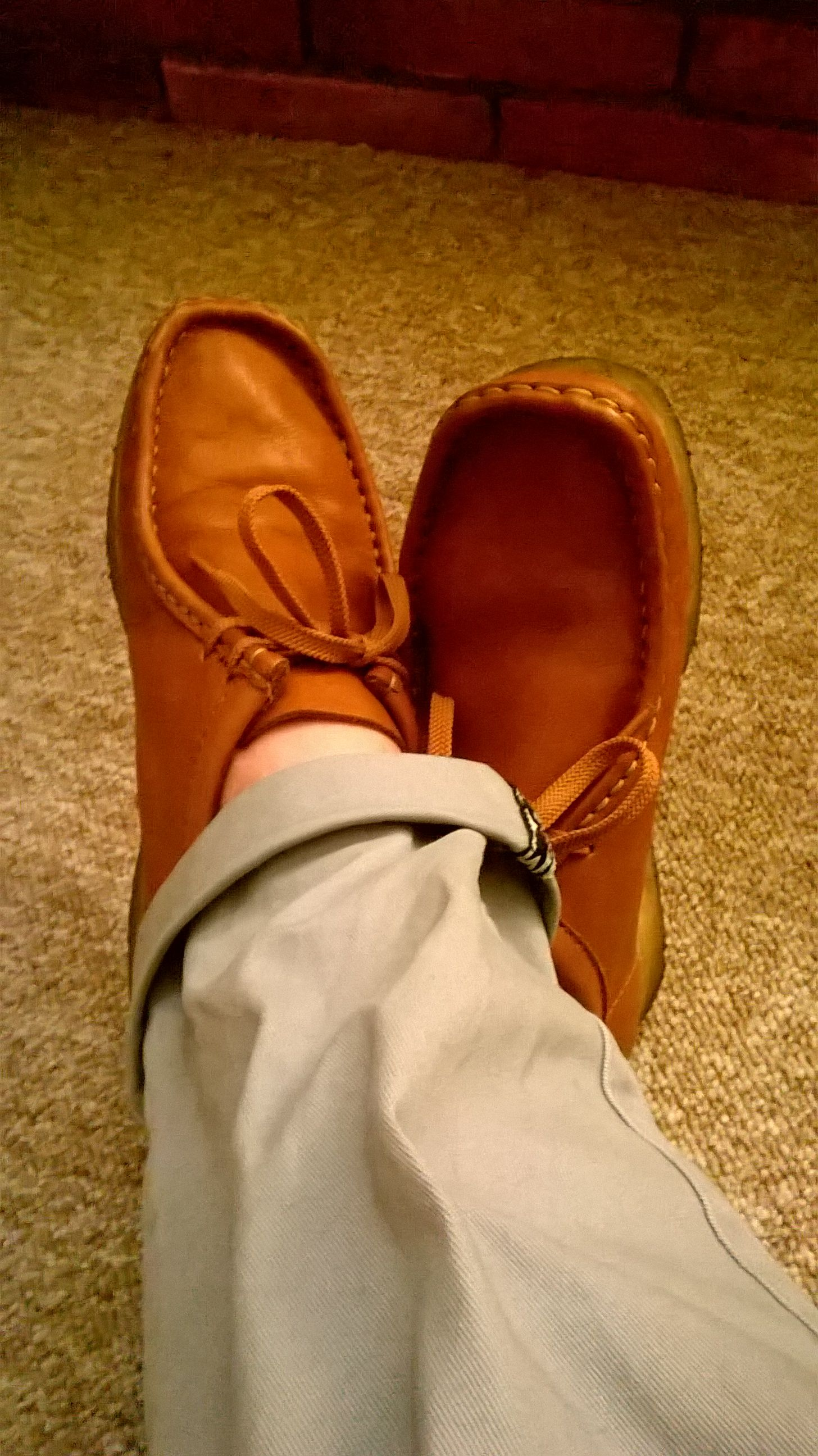 18b454da162 Vintage Clarks Wallabees rust//tan leather.   Ja Style in 2019 ...