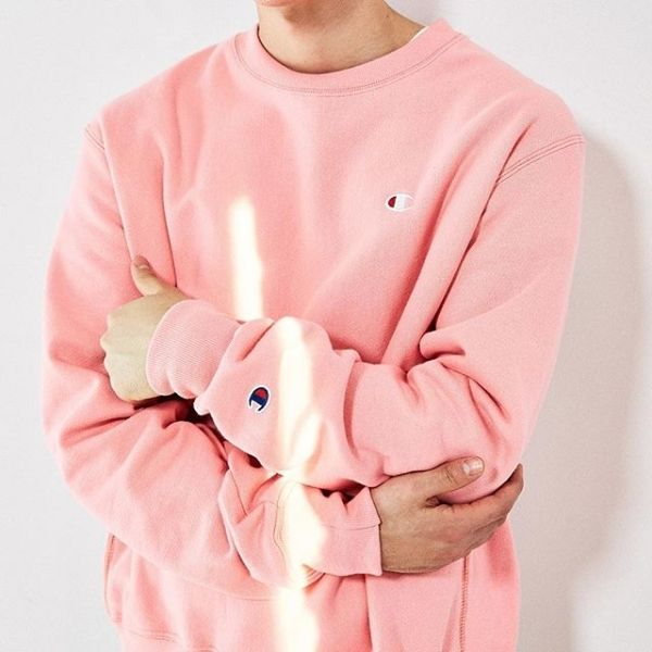 a3d28f6138 Don t wear pink much but too cuteee Pink Champion Sweatshirt