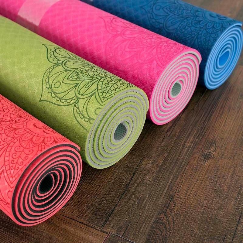 On The Go Travel Yoga Mat With Bag Yoga Pad Travel Yoga Mat Yoga Gear