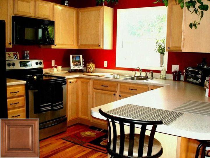 Plans For Kitchen Backsplash With Honey Oak Cabinets Beautiful Kitchen Cabinets Red Kitchen Walls Kitchen Colors