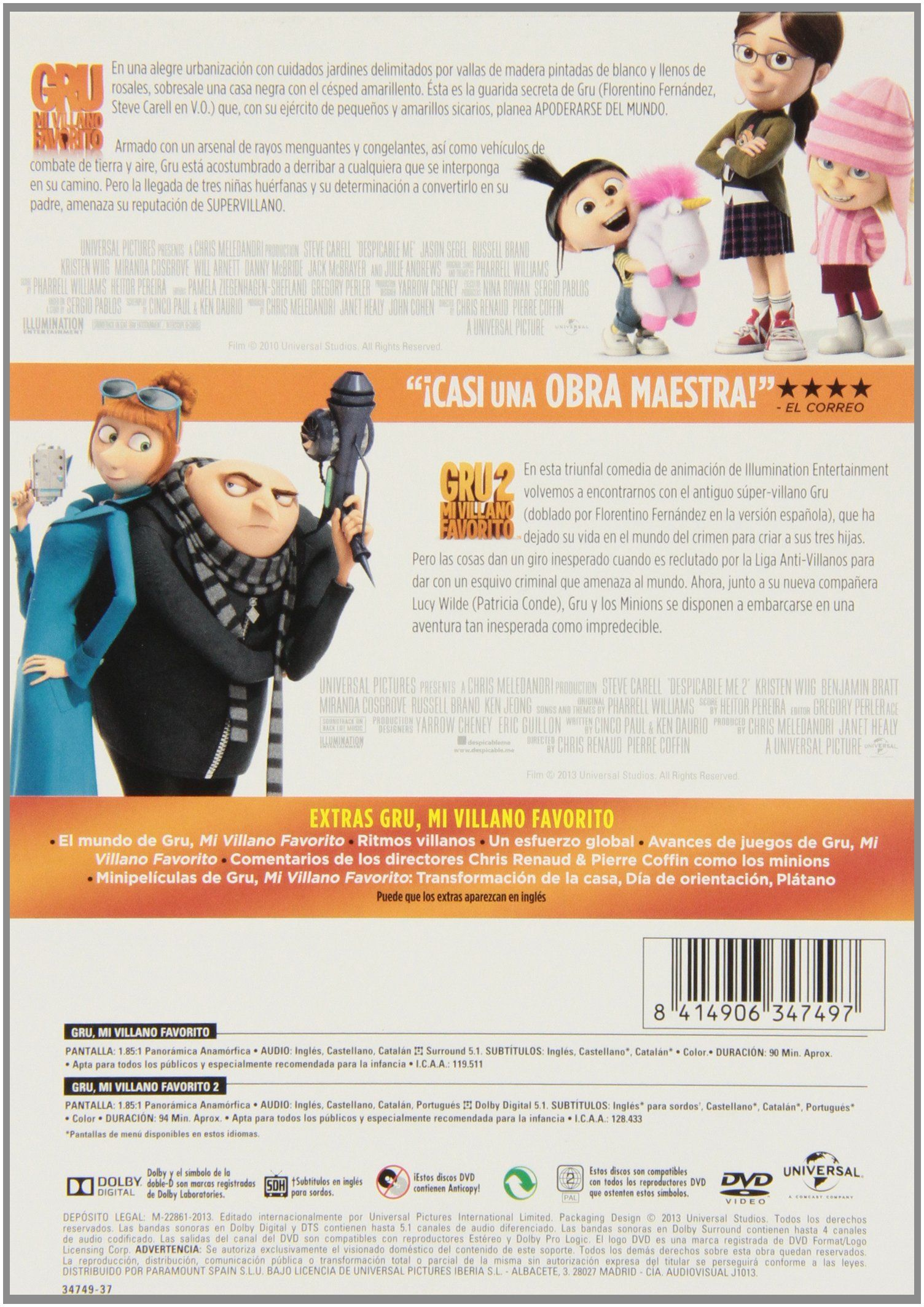 Pack: Gru. Mi Villano Favorito 1 2 [DVD] #Ad #Mi, #Gru, #Pack ...