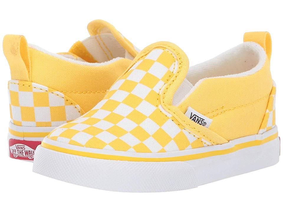 Vans Kids Slip On V (Toddler) Girls Shoes (Checkerboard