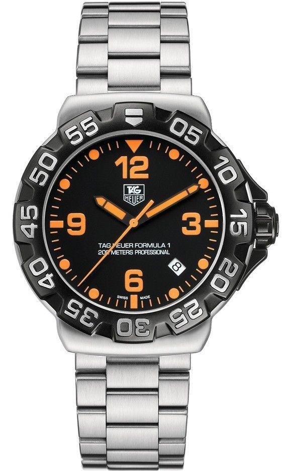e0f1505fa20 TAG HEUER FORMULA 1 WAH1116.BA0858 QUARTZ ORANGE NUMBERS STEEL QUARTZ WATCH  #TAGHeuer #LuxurySportStyles