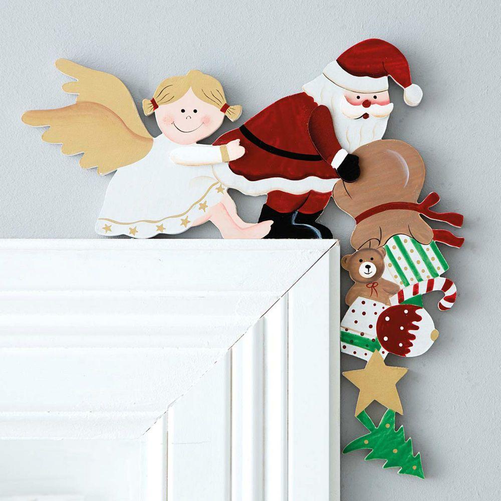 details zu t rrahmendeko engel weihnachtsmann. Black Bedroom Furniture Sets. Home Design Ideas