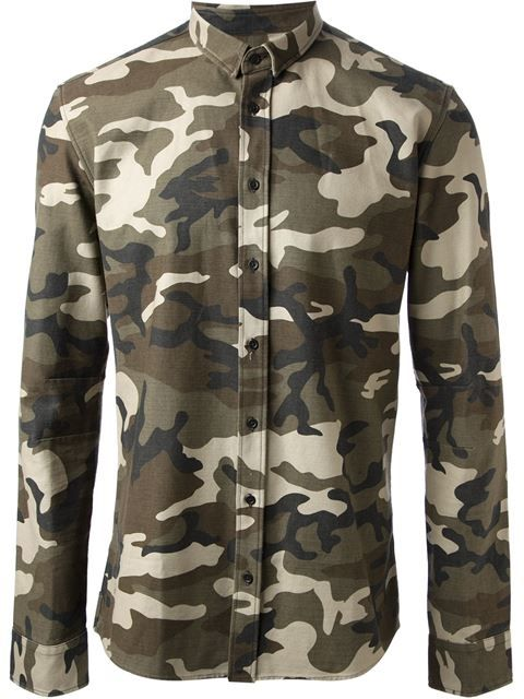 876e92c7f Balmain Camouflage Print Shirt - Julian Fashion - Farfetch.com | Men ...