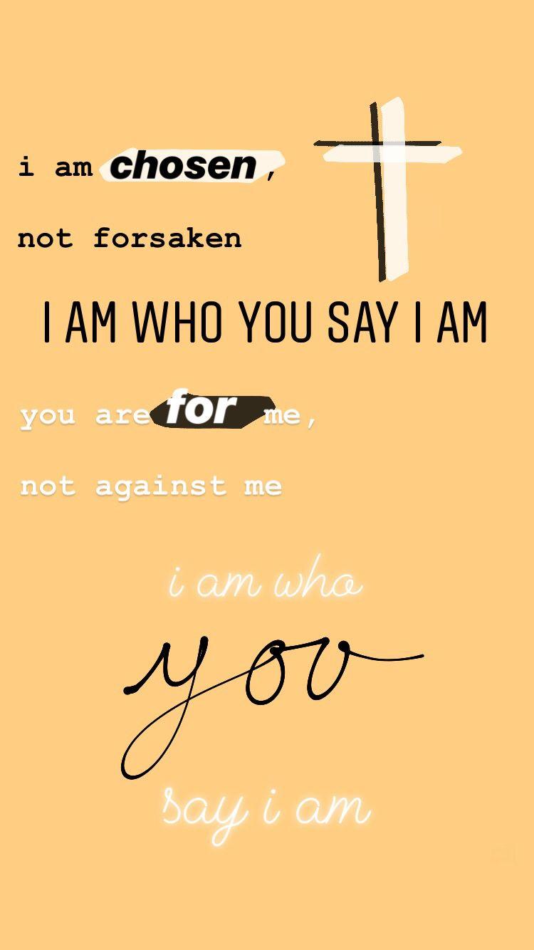 I am who You say I am. laurendaigle christian jesus
