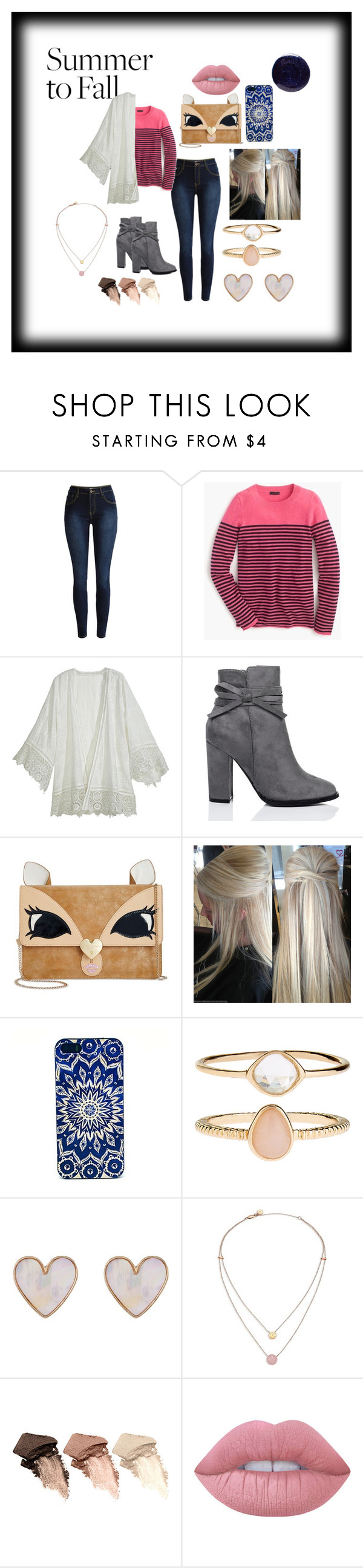 """""""Summer to fall"""" by vballgirl03 ❤ liked on Polyvore featuring J.Crew, Calypso St. Barth, Betsey Johnson, Accessorize, New Look, Michael Kors, Urban Decay, Lime Crime, Lauren B. Beauty and layers"""
