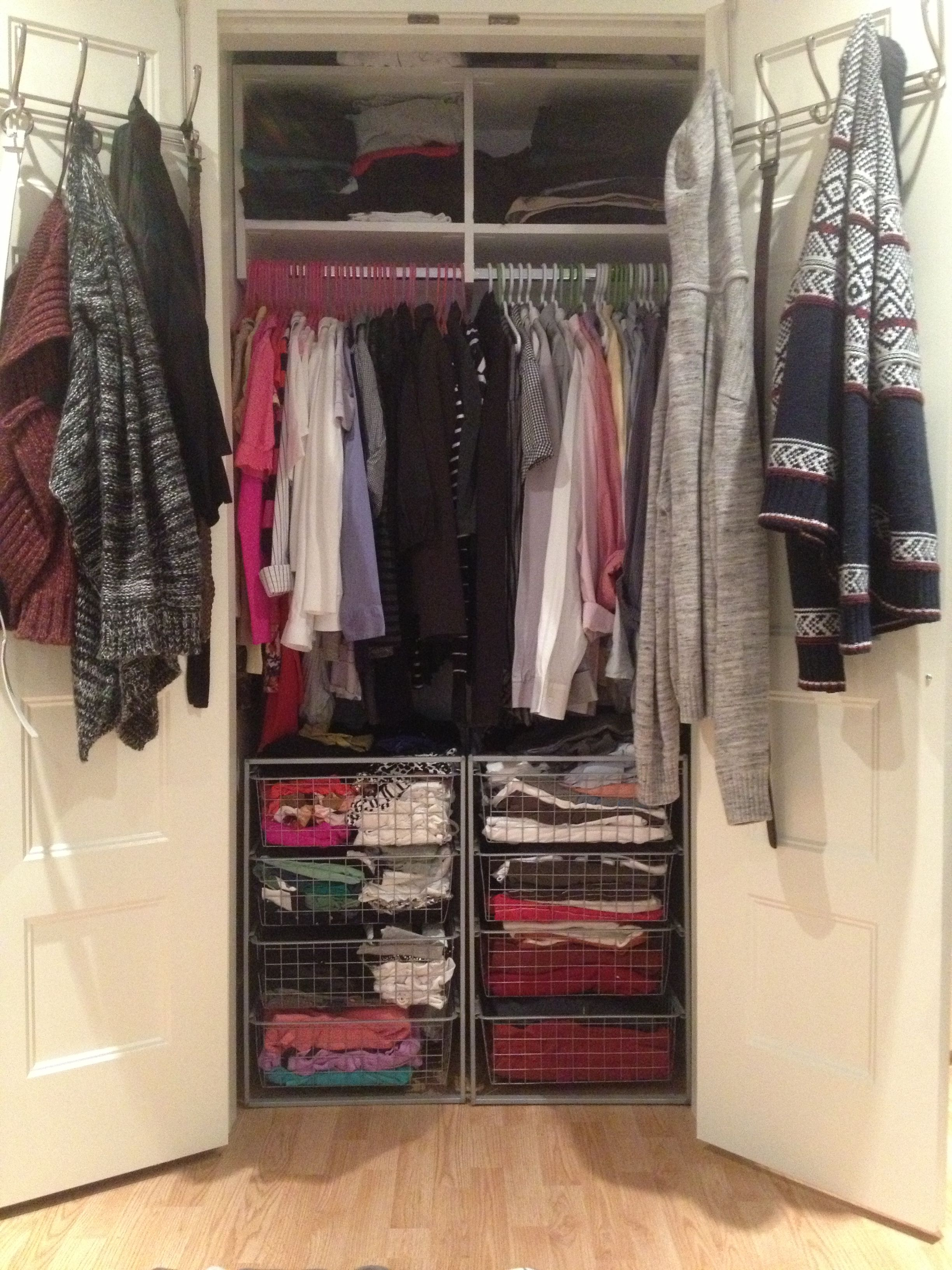 How To Make A Small Closet In A Big City Work For Two Without Breaking The