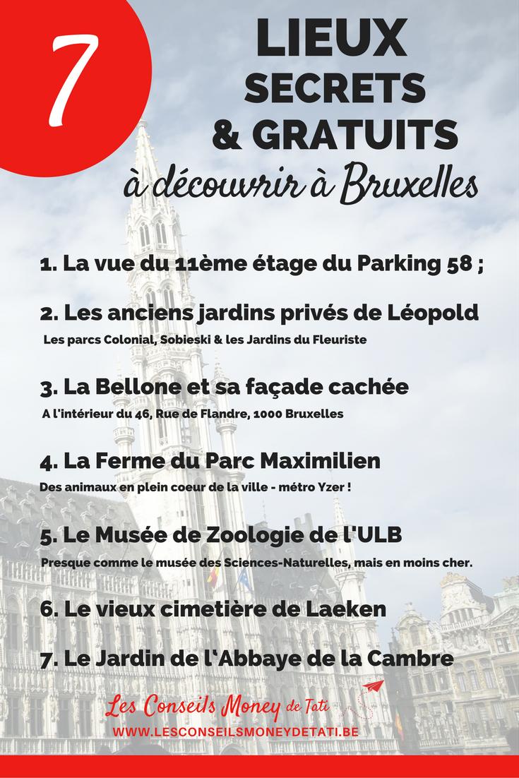 7 lieux secrets & gratuits à découvrir à Bruxelles