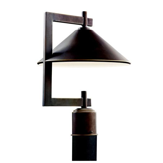 Kichler Ripley 1 Light Outdoor Post Lantern Lamp Post Lights Outdoor Post Lights Post Lights