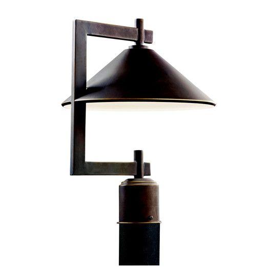 Kichler Ripley 1 Light Outdoor Post Lantern Lamp Post Lights Outdoor Post Lights Post Lights