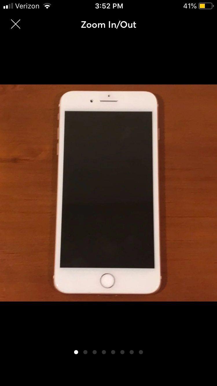 Apple Iphone 8 Plus 64gb Rose Gold At T Apple Iphone 8 Plus 64gb Rose Gold At T Cracked Back Screen Tested Works Iphone Iphone 8 Plus Iphone 8