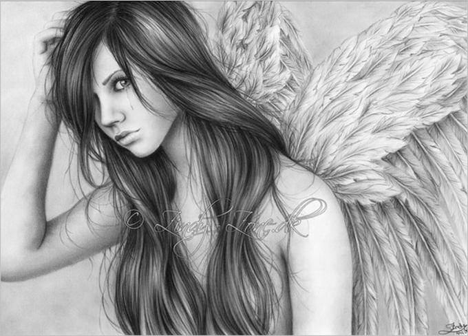Pencil drawings of angel tears1 jpg 680x488