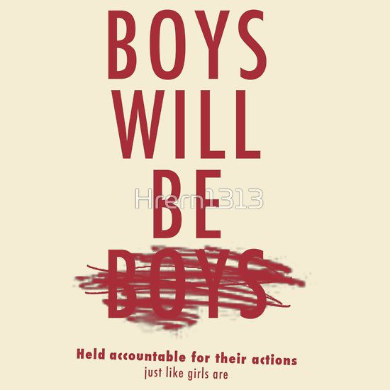 'Boys Will Be Held Accountable For Their Actions' Fitted T-Shirt by Hrern1313