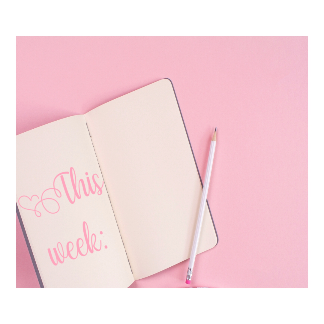 plans for the week graphic Photo was originally from