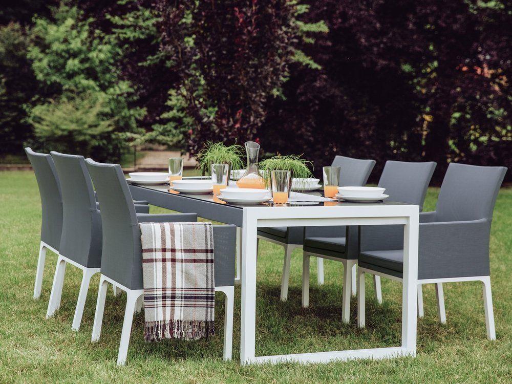 Set Of 2 Patio Chairs Gray Bacoli Beliani Com Garden Dining