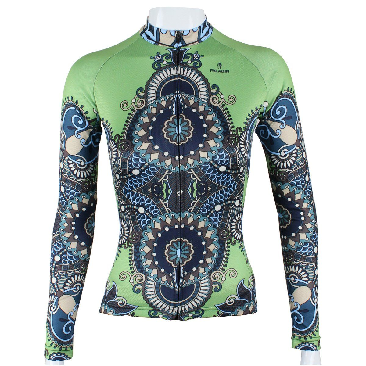 82aa4e35d Paladin Cycling Jersey Long Sleeve Women Armor Pattern Bike Shirts Size M  Green. Paladin bike