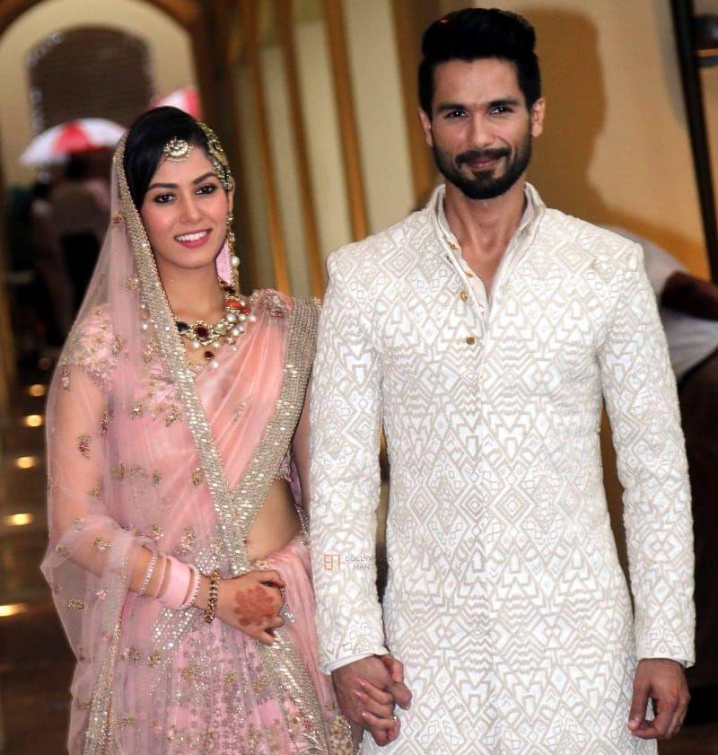 Shahid Kapoor And Mira Rajput Marriage Mira Rajput Shahid Kapoor Wedding Bollywood Wedding