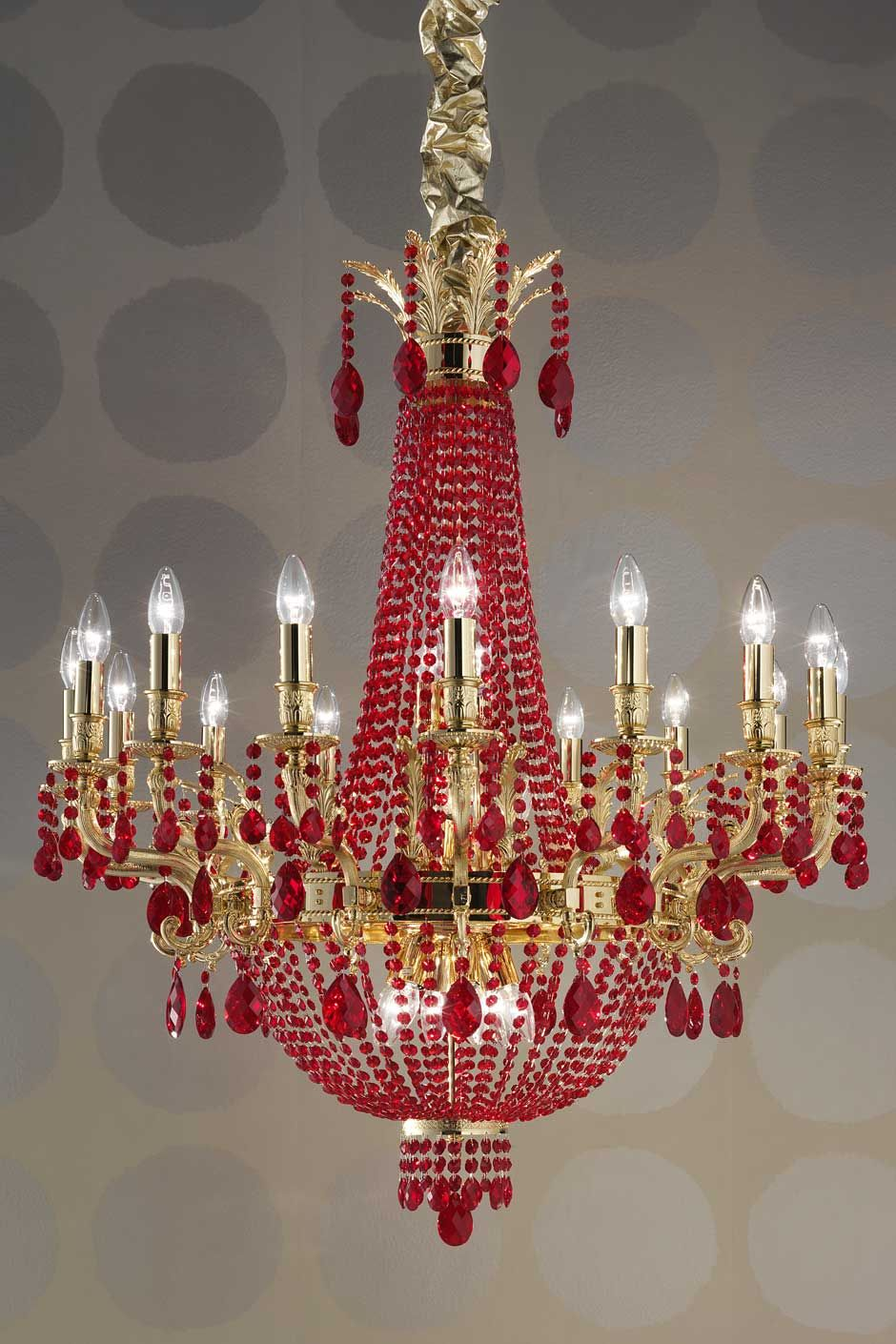 Chandelier Crystal Light Crystal Chandelier Masiero Murano - Red chandelier crystals