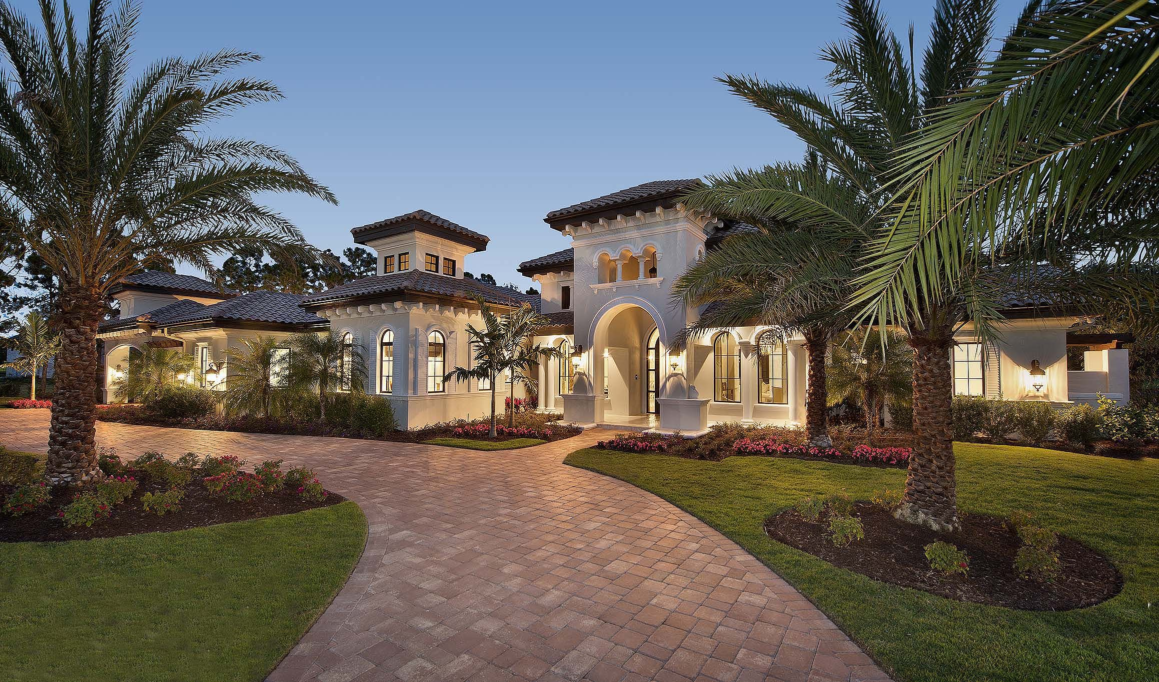 Luxury villa with spanish influences 66351we florida for Modern luxury villa design