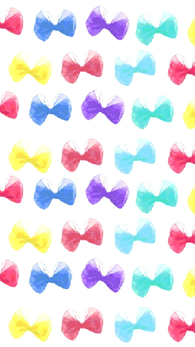 Multicolour Bow Ties IPhone Wallpapers Watercolor Pattern