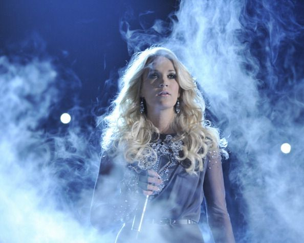 "Carrie Underwood performed ""Blown Away"" at the 46th Annual CMA Awards on November 1, 2012."