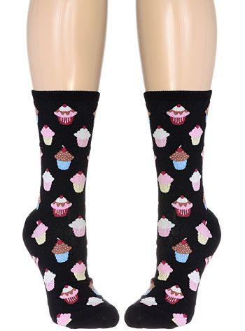 A Piece of Cupcake Crew Socks at ShopPlasticland.com