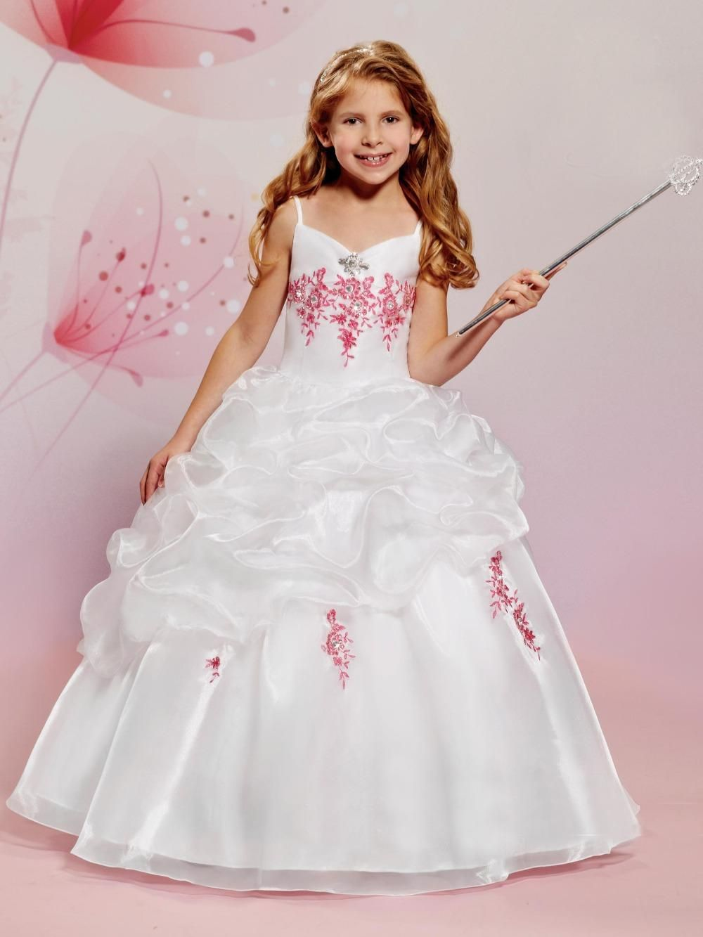 Vintage organza flower girl dresses for weddings ball gown 2016 vintage organza flower girl dresses for weddings ball gown 2016 cheap white v neck crystal kids beauty pageant dresses toddler party dresses baby easter izmirmasajfo