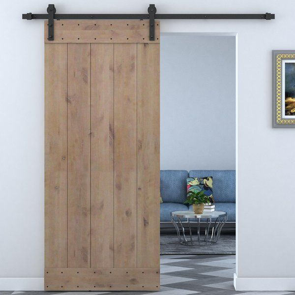 The Calhome Barn Style Sliding Door Hardware And Knotty Alder