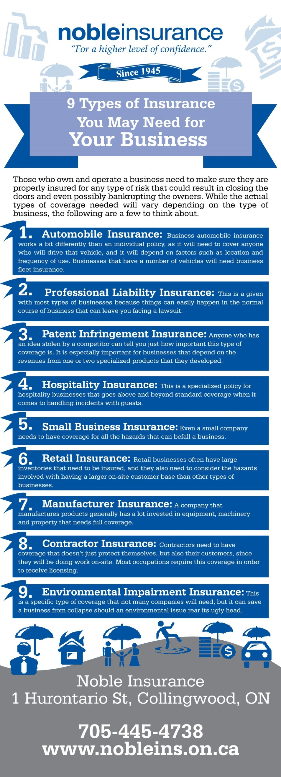 9 Types Of Insurance You May Need For Your Business Infographic