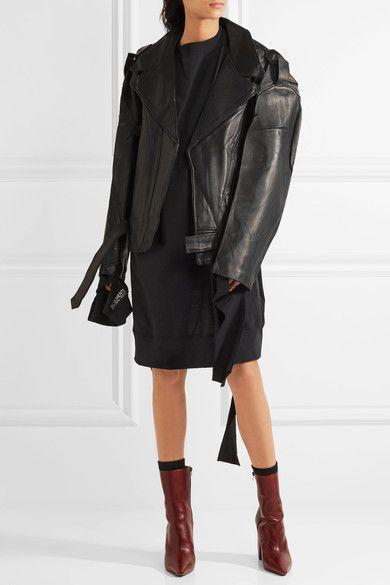 a80a70dcd Vetements - Schott Perfecto Oversized Leather Biker Jacket - Black ...