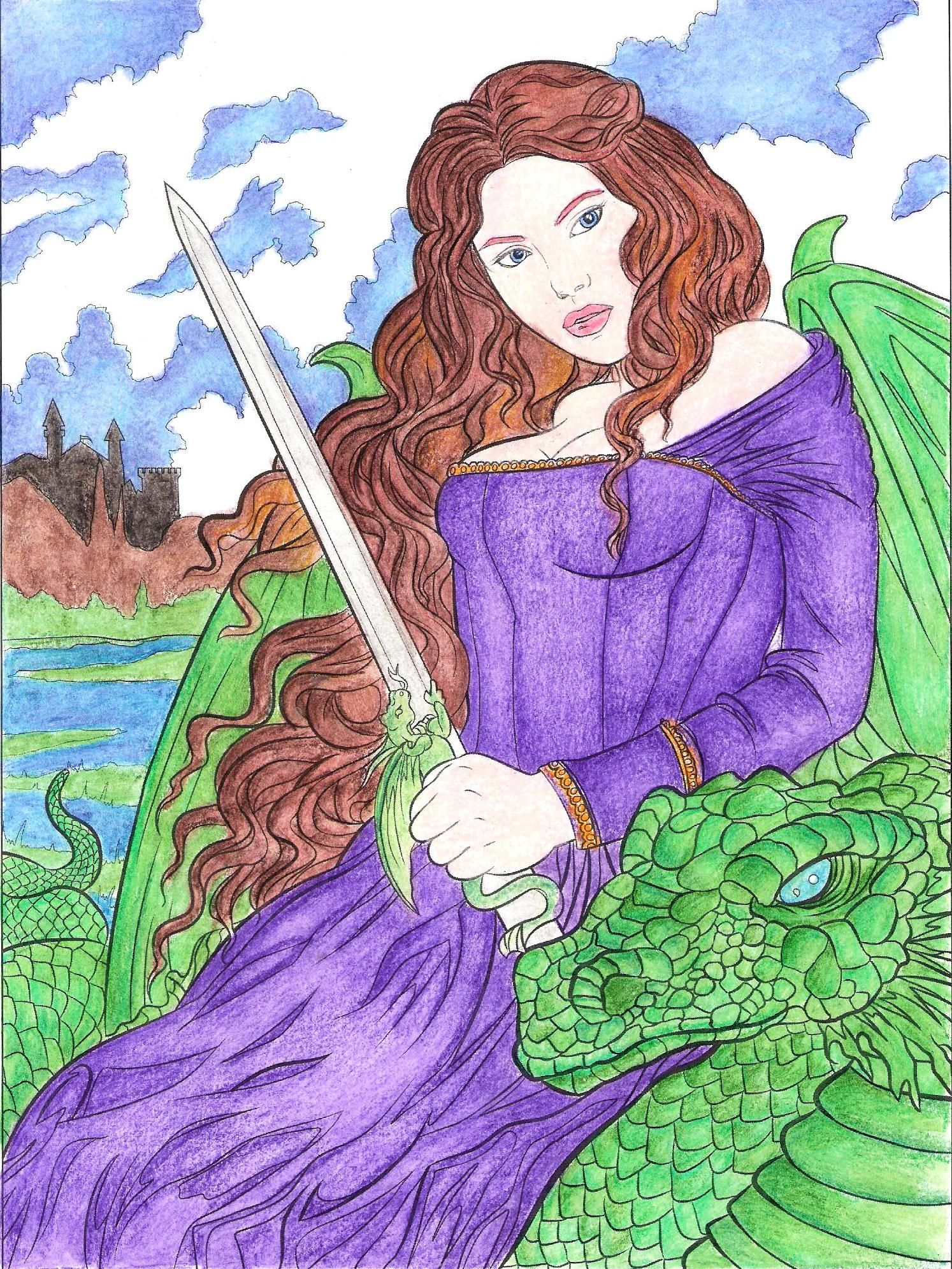 """""""Bonded"""" form Gothic Coloring Book by Selina Fenech # ..."""