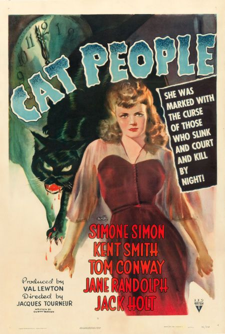 Movie Posters Horror Cat People Rko 1942 One Sheet 27 X 41 Image 1 Classic Movie Posters Movie Posters Vintage Movie Posters