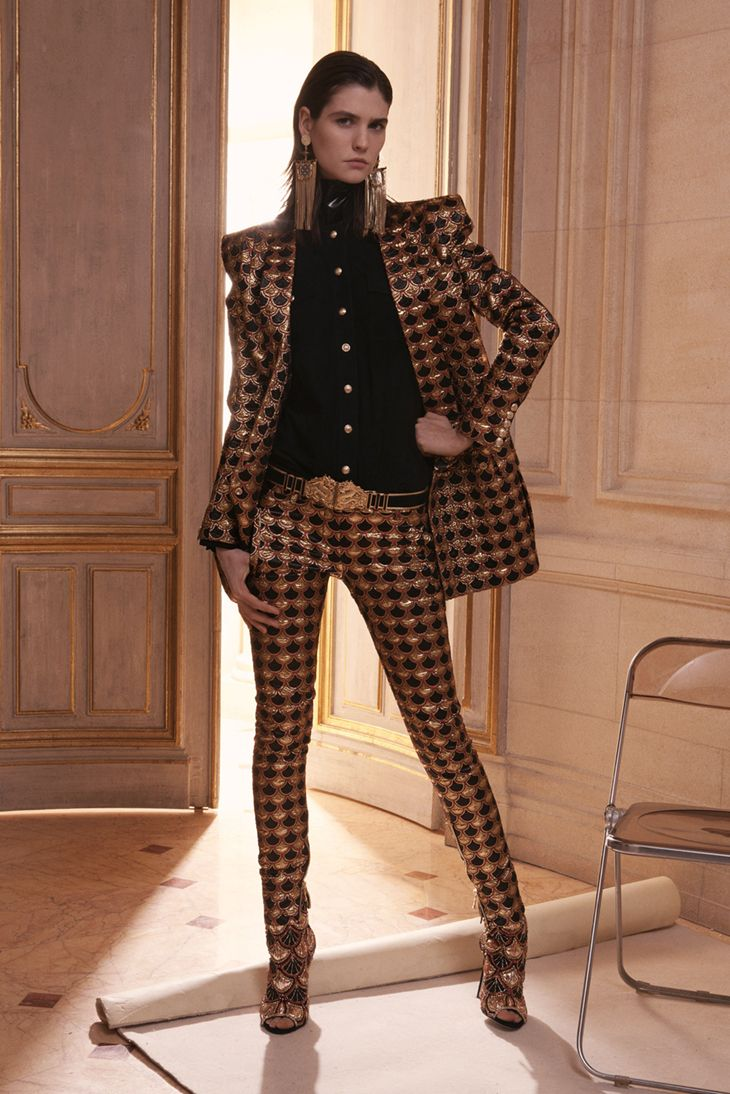 SWAGGER.....Balmain details jacket and suit pants and shirt