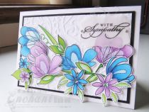 Handmade Sympathy Card ... Simon Says Stamp - Spring Blossoms ... CASE - Laura Bassen ... EnchantINK