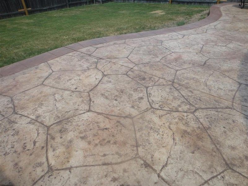 Flagstone stamped concrete gallery decorative and Flagstone patios colleyville tx