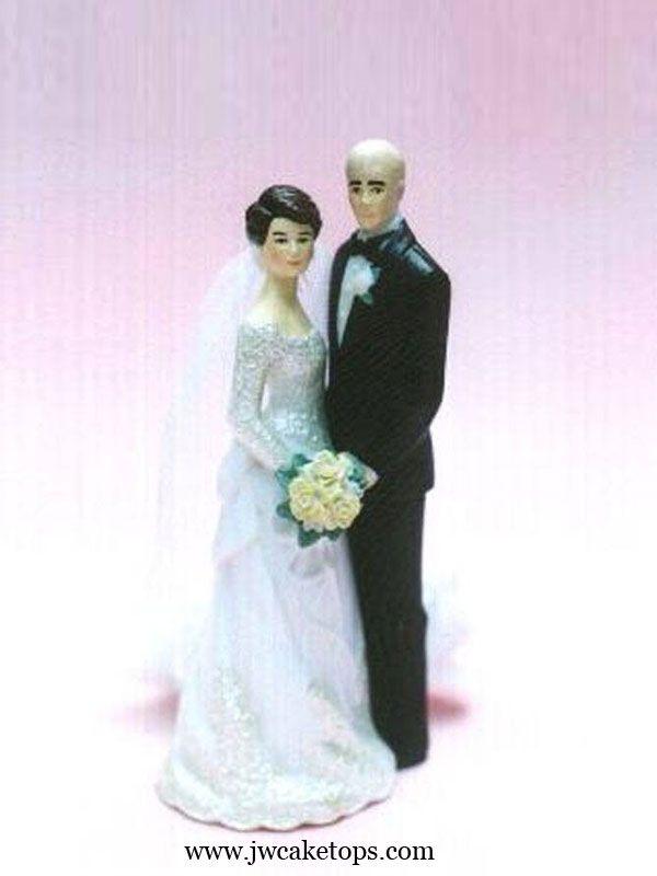 Our Day Bald Groom Wedding Cake Topper Wedding Cake Toppers Wedding Bride Wedding Cake Tops