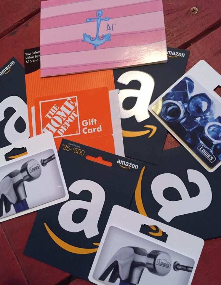 Hattiesburg alumnae collected gift cards for people