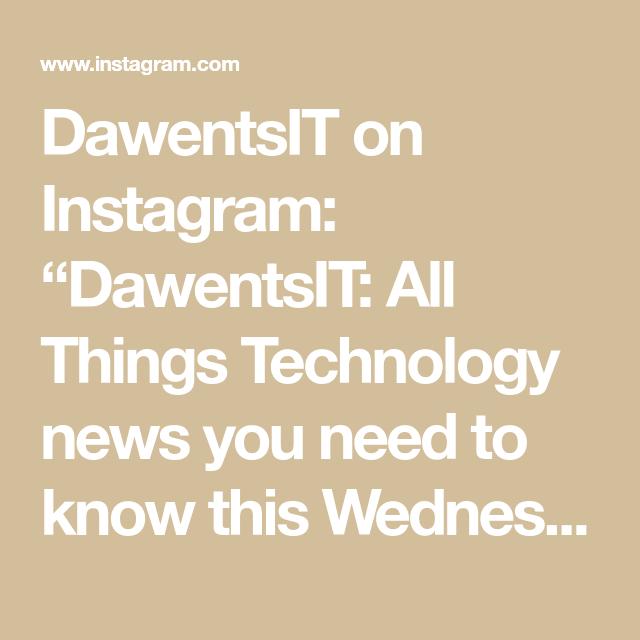 Dawentsit On Instagram Dawentsit All Things Technology News You Need To Know This Wednesday 1 Palantir Technologies Is Pre New Technology New You Tiktok Us