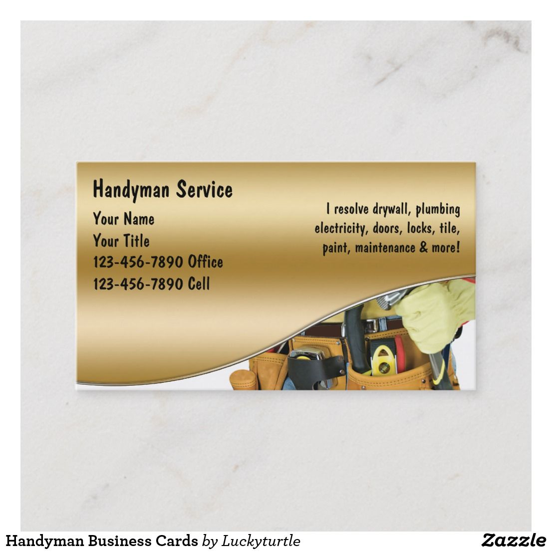 Handyman business cards handyman business