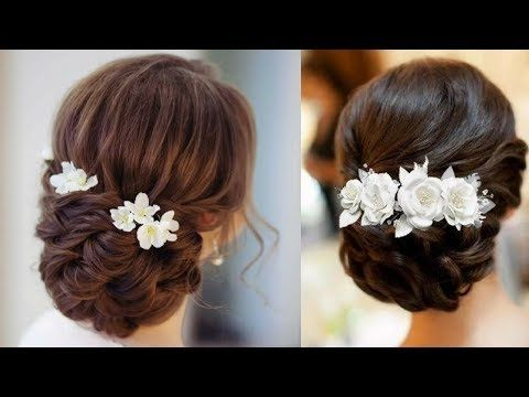 Bridal Hairstyle For Long Hair Tutorial Soft Braided Updo Youtube