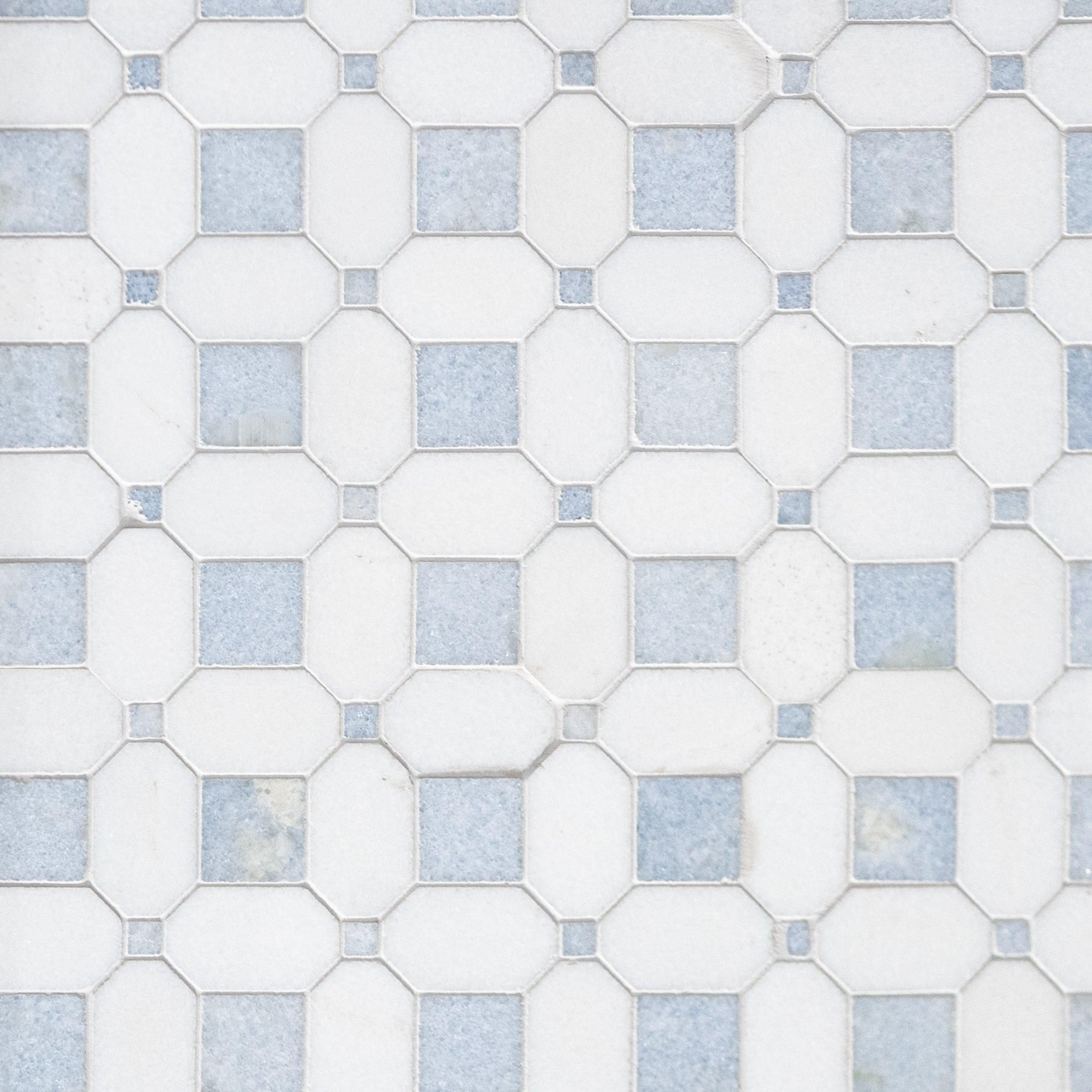 Thassos Blue Celeste Basket Weave Marble Mosaic In 2020 Marble Mosaic Blue Kitchen Tiles Stone Flooring
