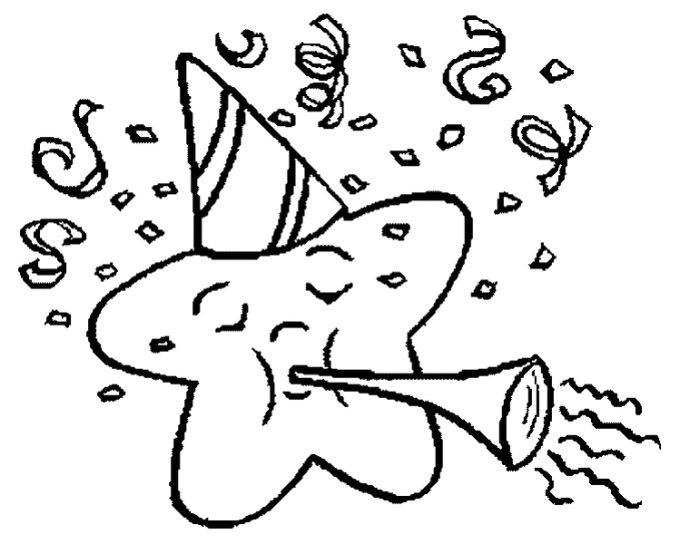 Pictures Star New Year Eve Coloring Pages - New Year Coloring Pages - copy happy new year card coloring pages