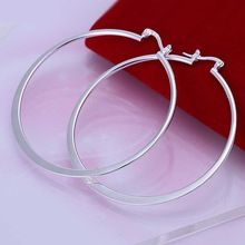 Hot Sale!!Free Shipping 925 Silver Earring,Fashion Sterling Silver Jewelry Flat Circle Earrings SMTE043(China (Mainland))