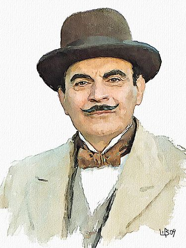 Image result for hercule poirot drawing