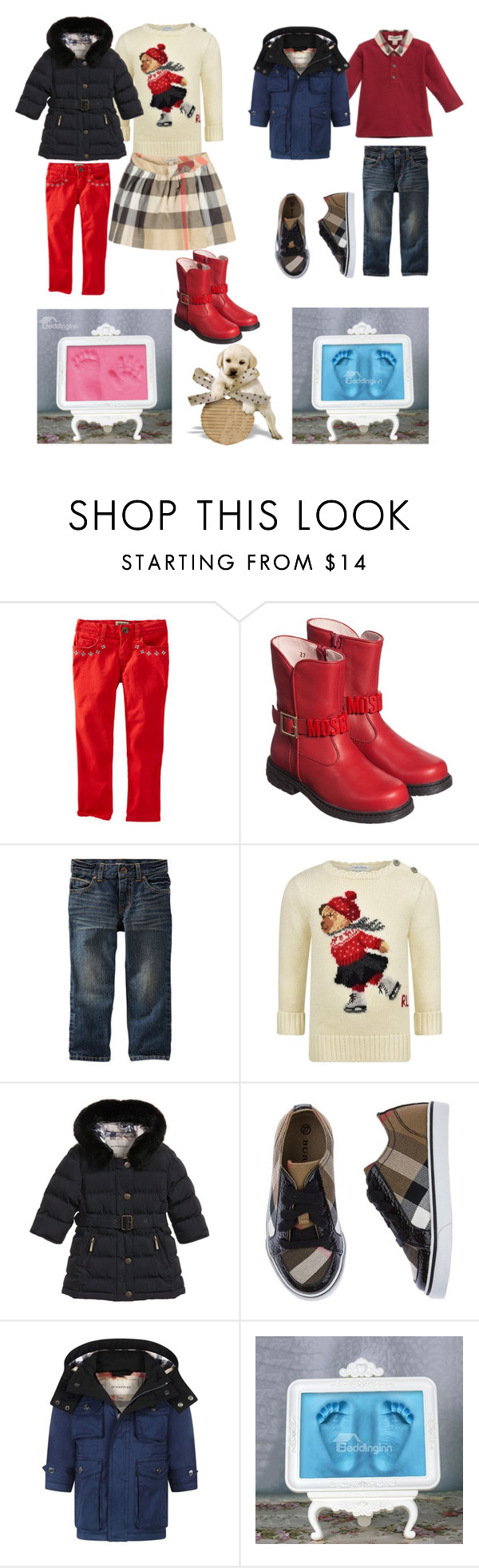 """""""Untitled #295"""" by liakmaria ❤ liked on Polyvore featuring Moschino, Burberry and Ralph Lauren"""