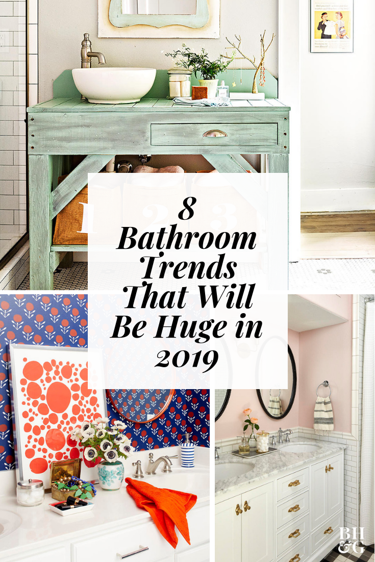 Give your bathroom  refresh with these stylish decorating ideas including gray cabinetry smart also trends will be everywhere in bhg   rh pinterest